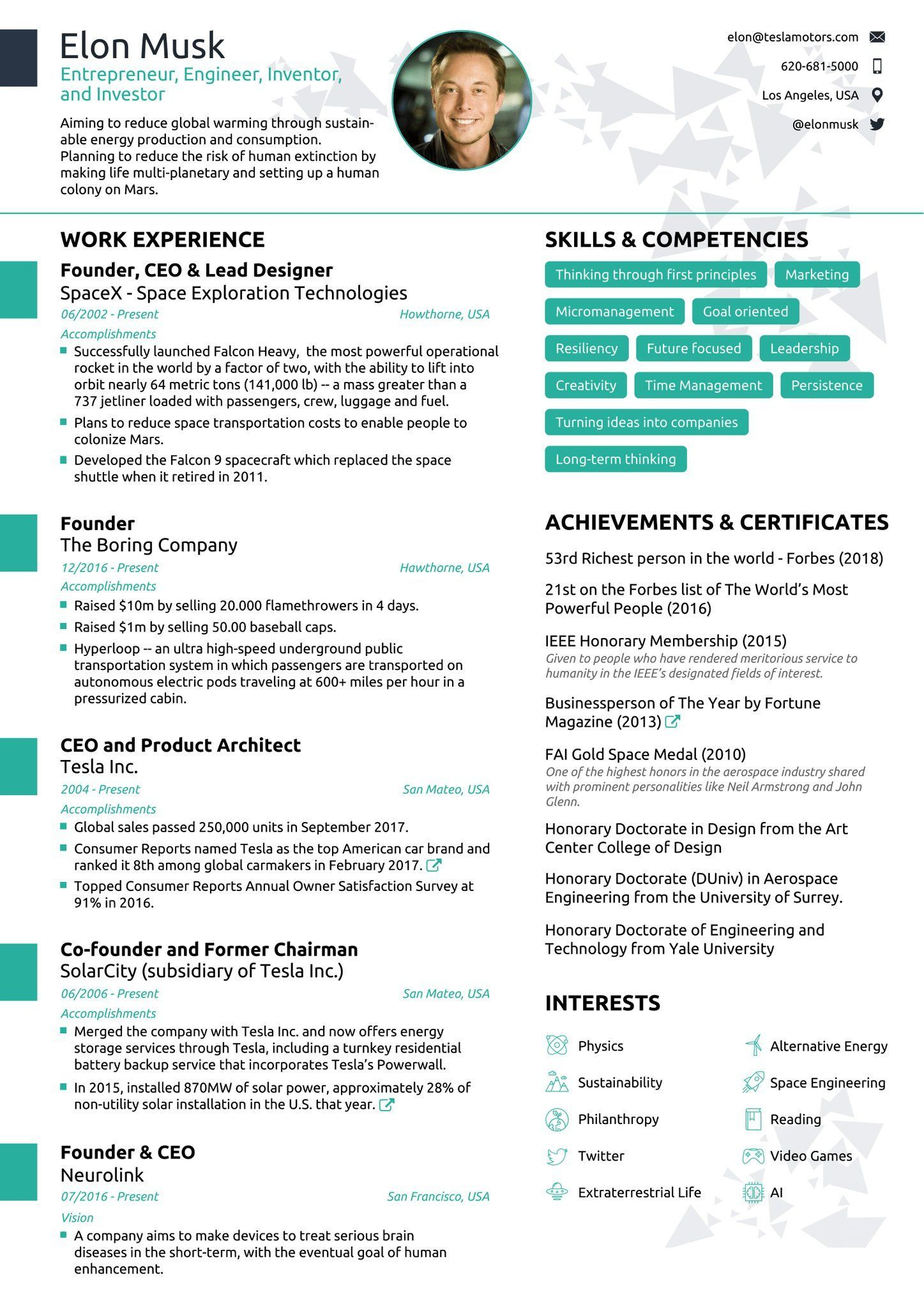 Resume Examples By Industry And Job Title With Images One Page