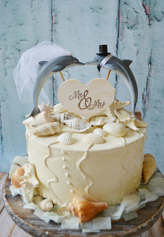Dolphin Couple Wedding Cake Topper Porpoise Wedding Cake