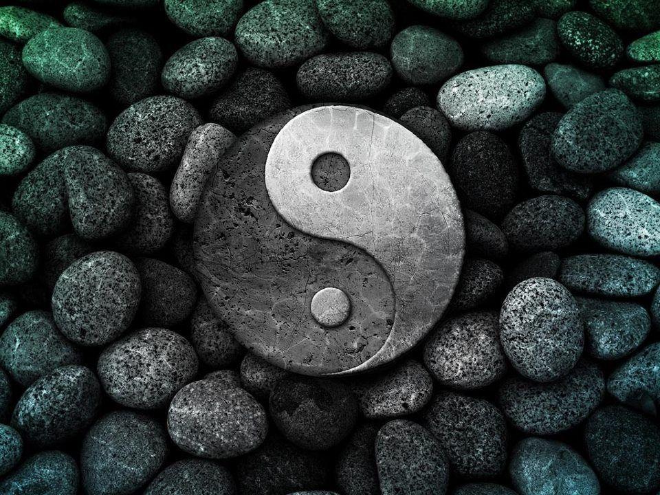 Stone yin yang yin yang pinterest yin yang - Yin and yang wallpaper ...