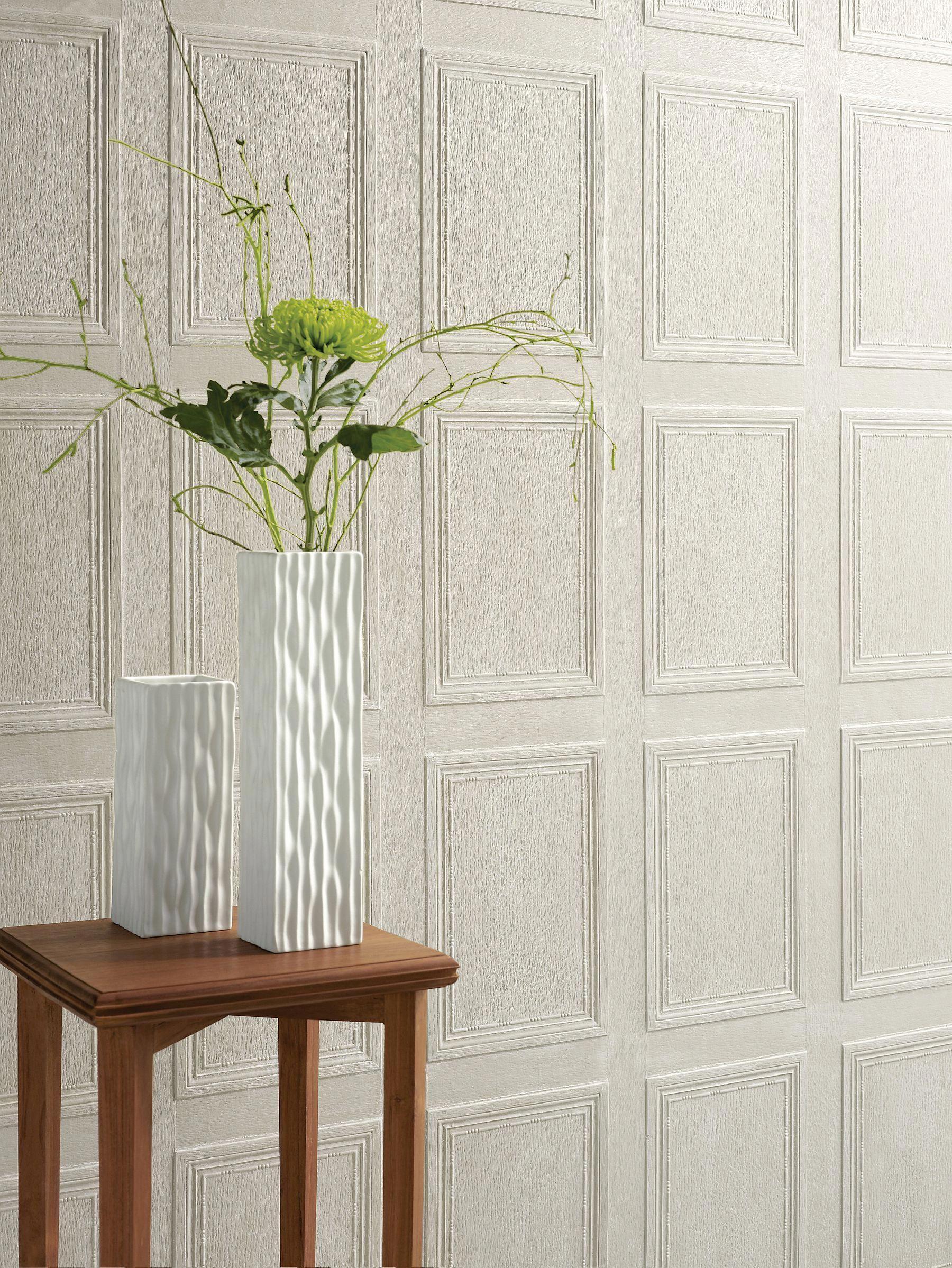 Georgian Panel by Lincrusta - Paintable - Wallpaper : Wallpaper Direct