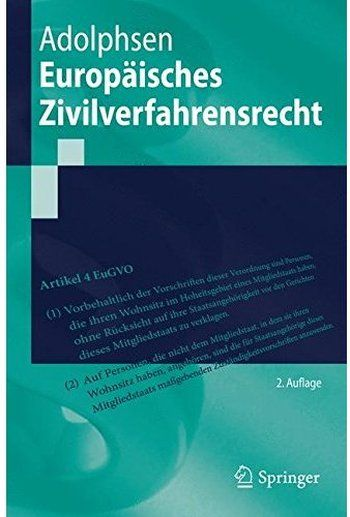 Europäisches Zivilverfahrensrecht (Auflage: 2)