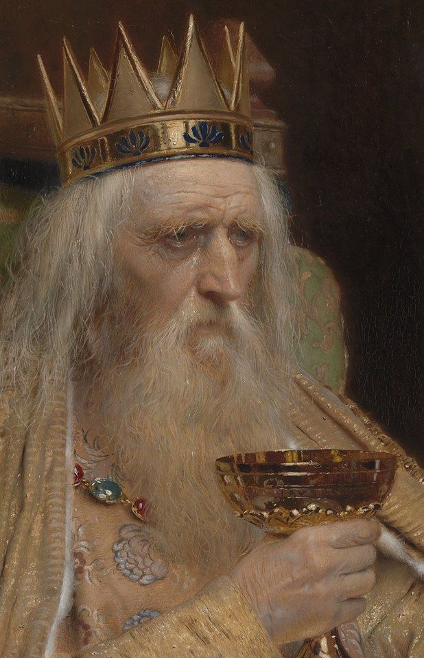 Pierre Jean Van der Ouderaa (1841–1915), The King of Thule, 1896 (detail)