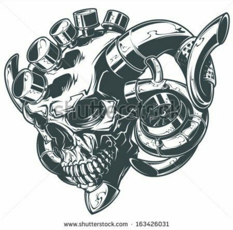 Motor Horse Tattoo Idea Get Inked Mechanic Tattoo Car Tattoos