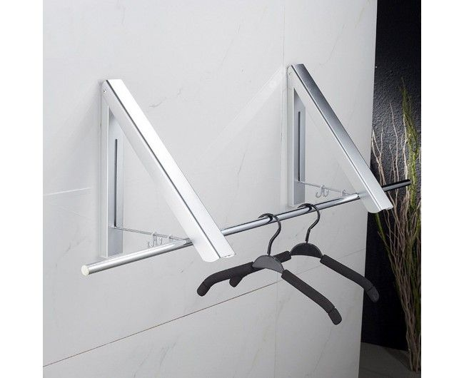 Instahanger Wall Mount Collapsible Clothes Hanging System