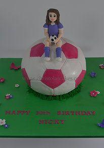 Girls soccer ball cake