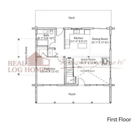 Jaffrey NH L11360 Real Log Homes Floor Plan Tiny Small Home
