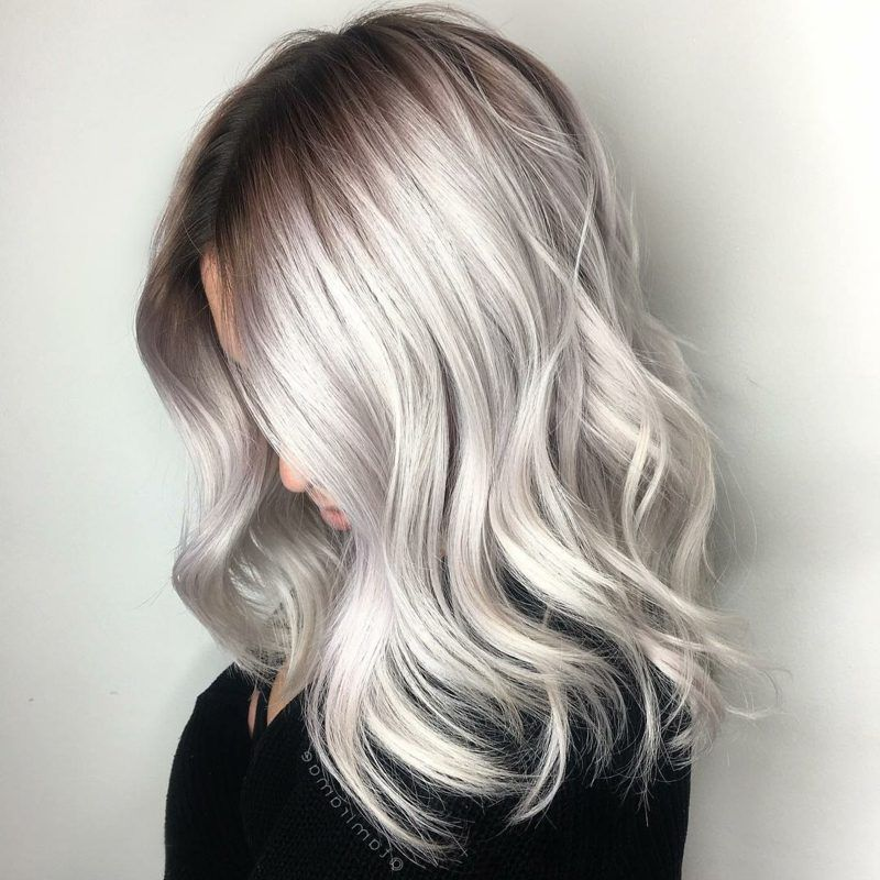 13++ Platinum blonde silver balayage ideas in 2021