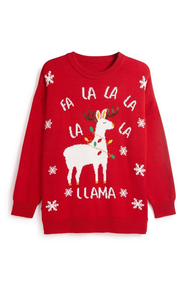 Chique Kersttrui.Primark Christmas Llama Jumper Novelty Pinterest Christmas