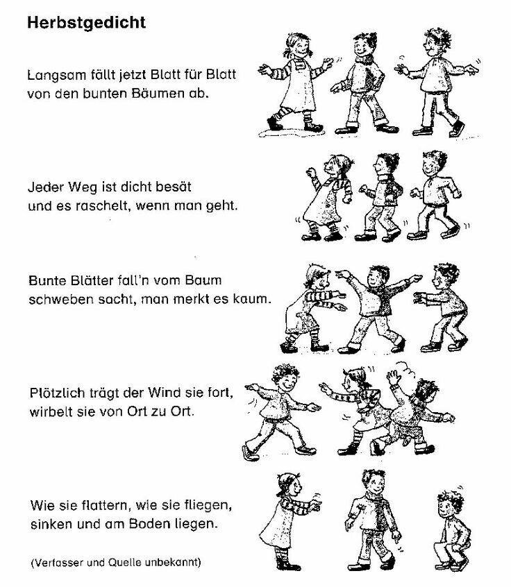 Pin von Ines Wolf auf kindergarten | Pinterest | Herbst, Gedicht und ...