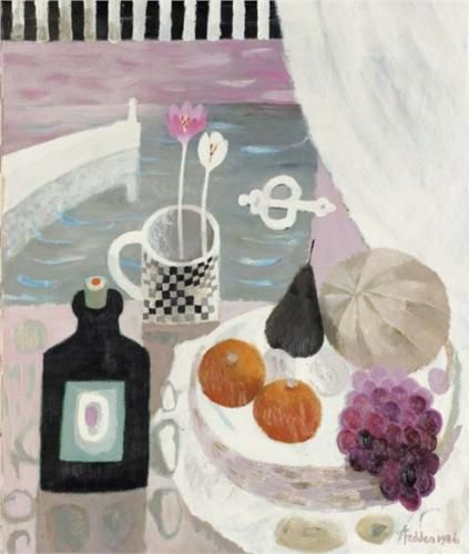 The Checked Mug - Mary Fedden