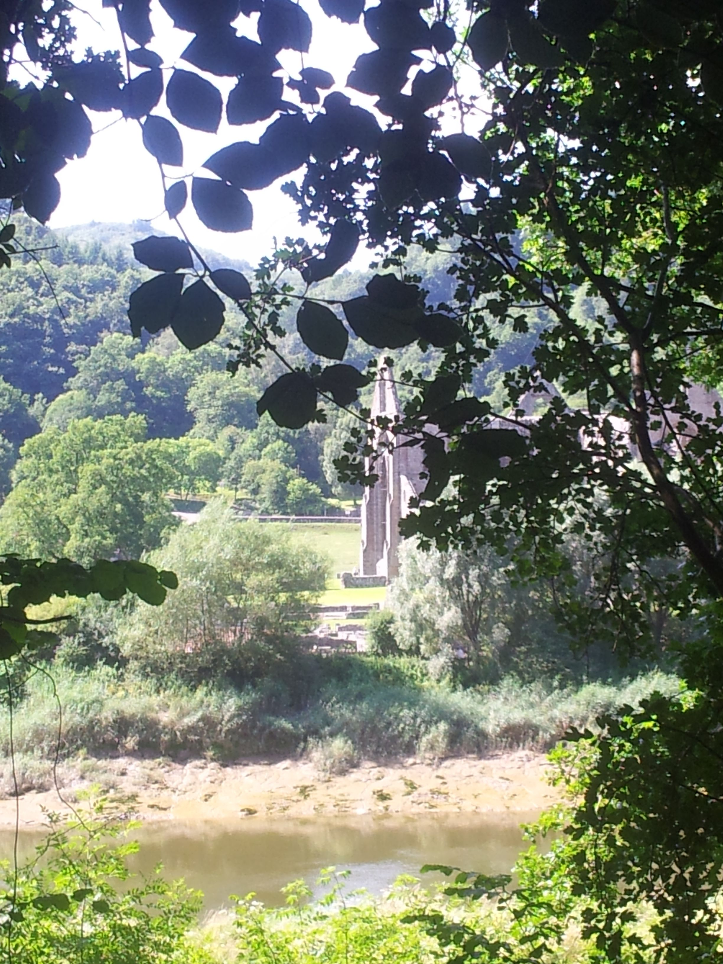 Tintern Abbey and the Wye. Wales