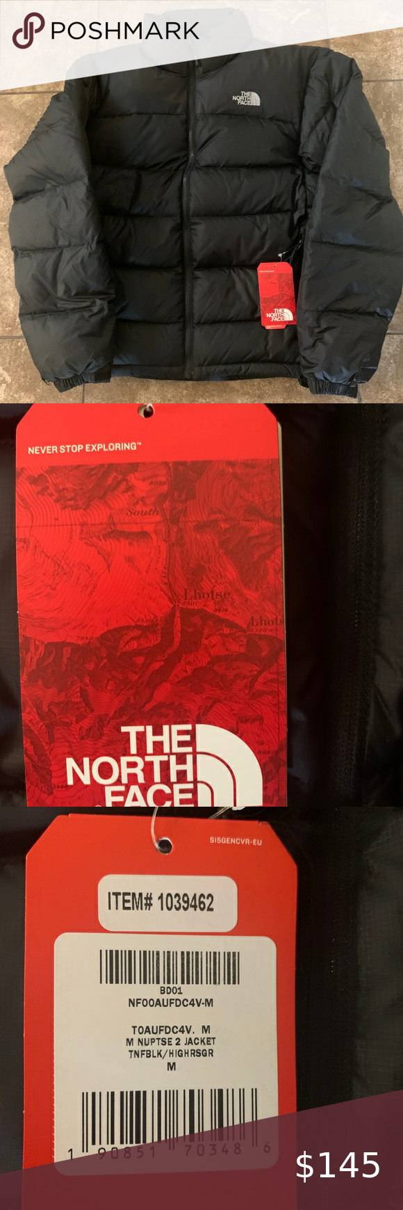 North Face Men S Nuptse 2 New The North Face North Face Mens Black North Face [ 1740 x 580 Pixel ]