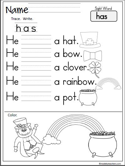 November Rhyming Worksheet. Free literacy building page