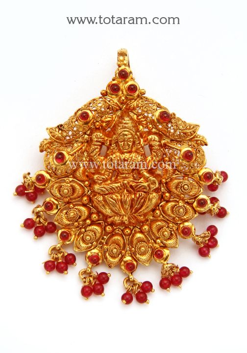 Check out the deal on 22K Gold Lakshmi Pendant Temple Jewellery