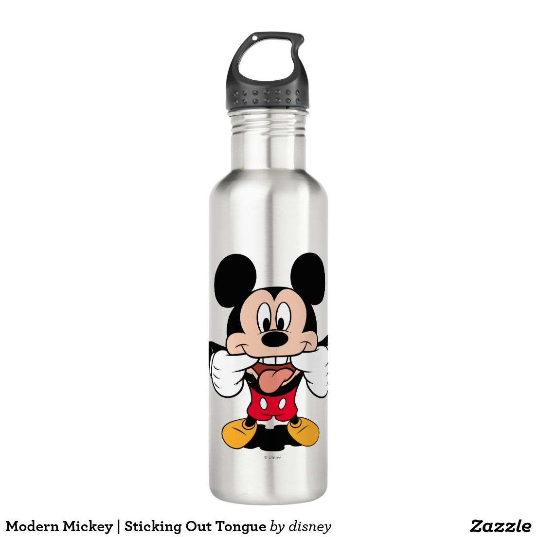 Modern Mickey   Sticking Out Tongue. Producto disponible en tienda Zazzle. Product available in Zazzle store. Regalos, Gifts. Link to product: http://www.zazzle.com/modern_mickey_sticking_out_tongue_stainless_steel_water_bottle-256096316366645172?CMPN=shareicon&lang=en&social=true&rf=238167879144476949 #bottle #botella #disney