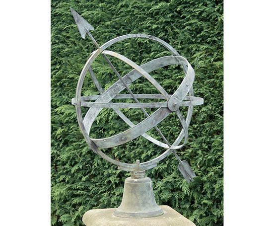 Small Gardens · Zenith Verdigris Bronze, Armillary Sphere Sundial