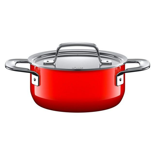 Photo of Cooking pot with lid, Silargan, induction suitable »Zeno Red«