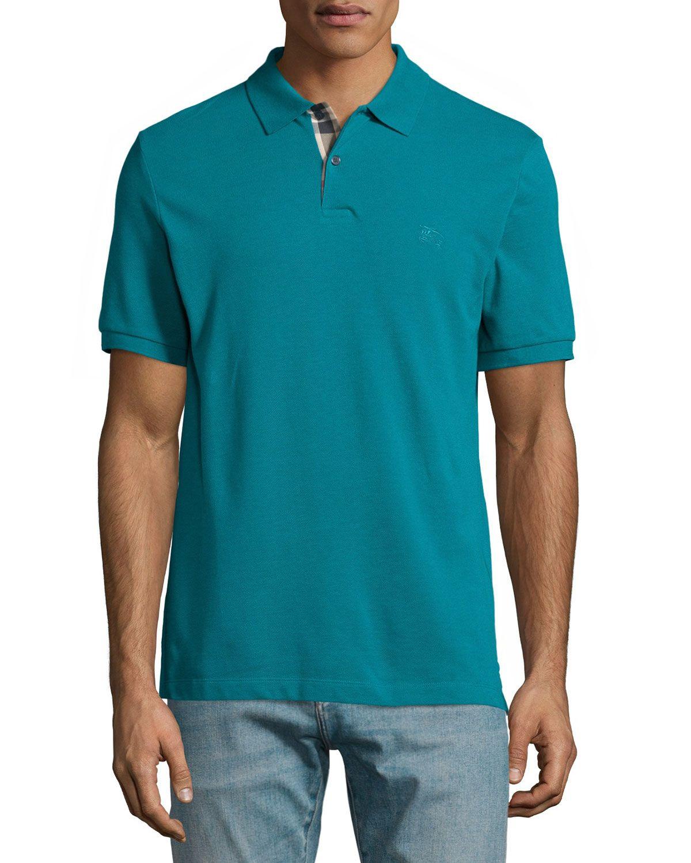 25cac9e8c Short-Sleeve Pique Polo Shirt Dark Teal