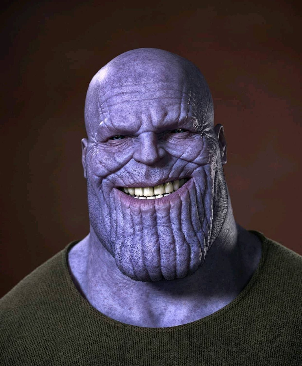 Thanos' Creepy Smile.... | MARVEL STUDIOS | Thanos marvel ...