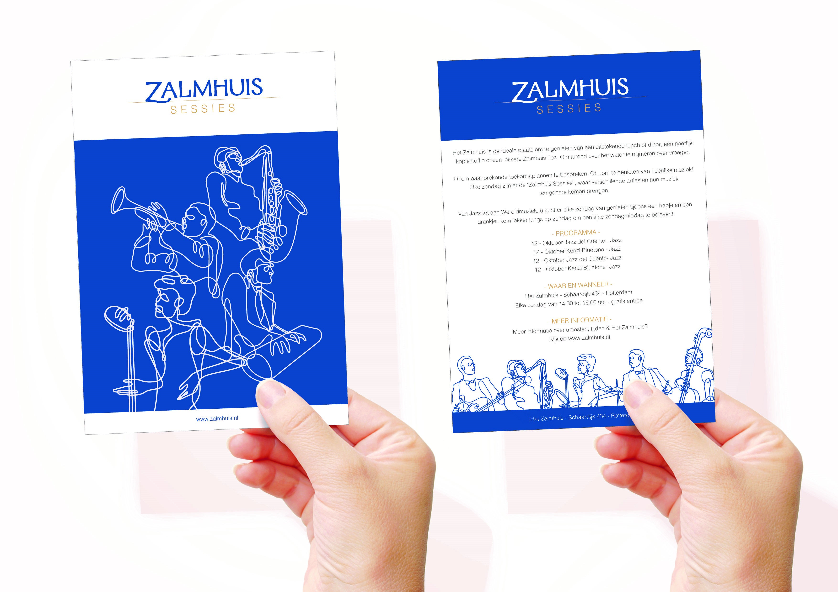 Flyer Zalmhuis sessie op zondag