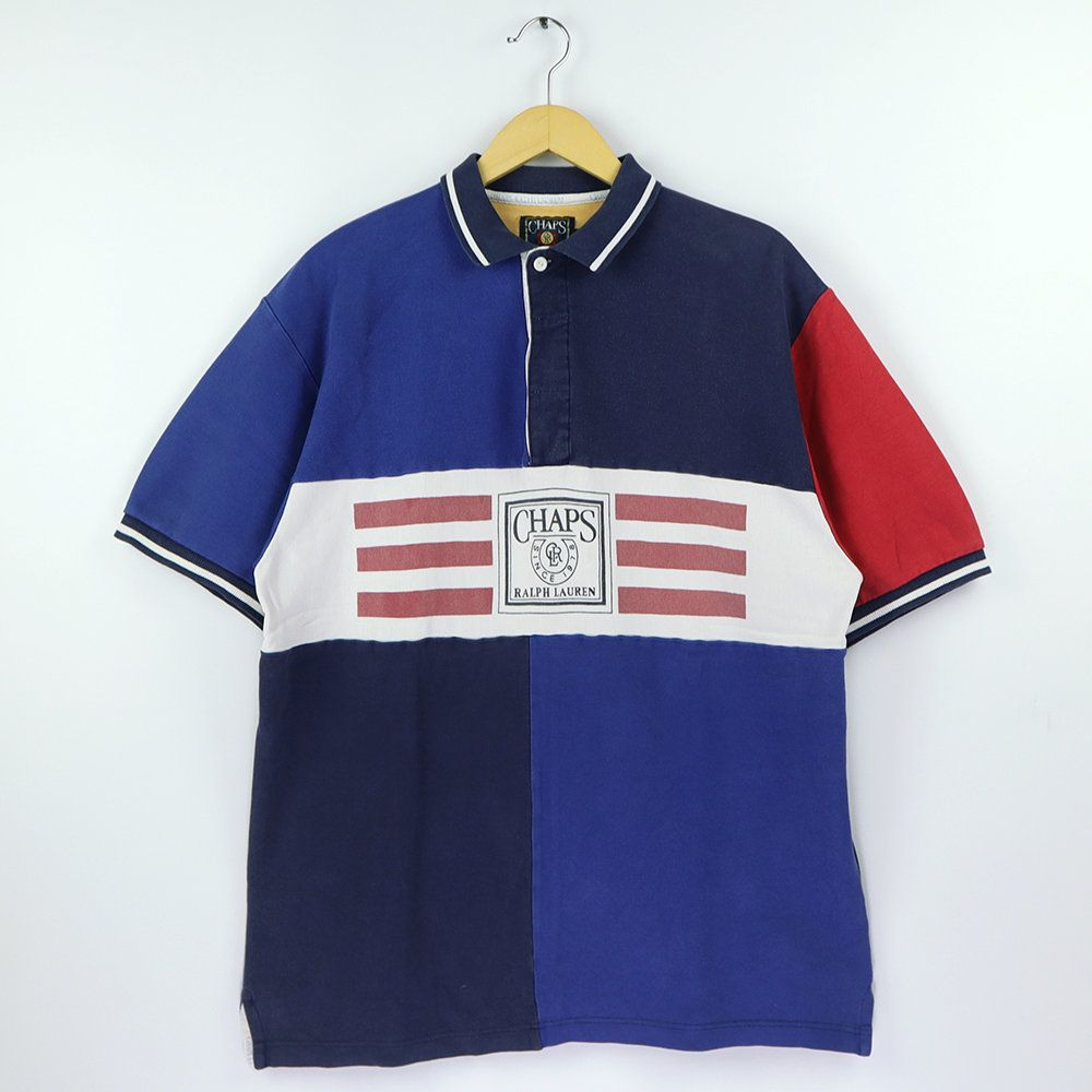 Vintage 90s CHAPS POLO SPORT Ralph Lauren Polo Rugby Shirt