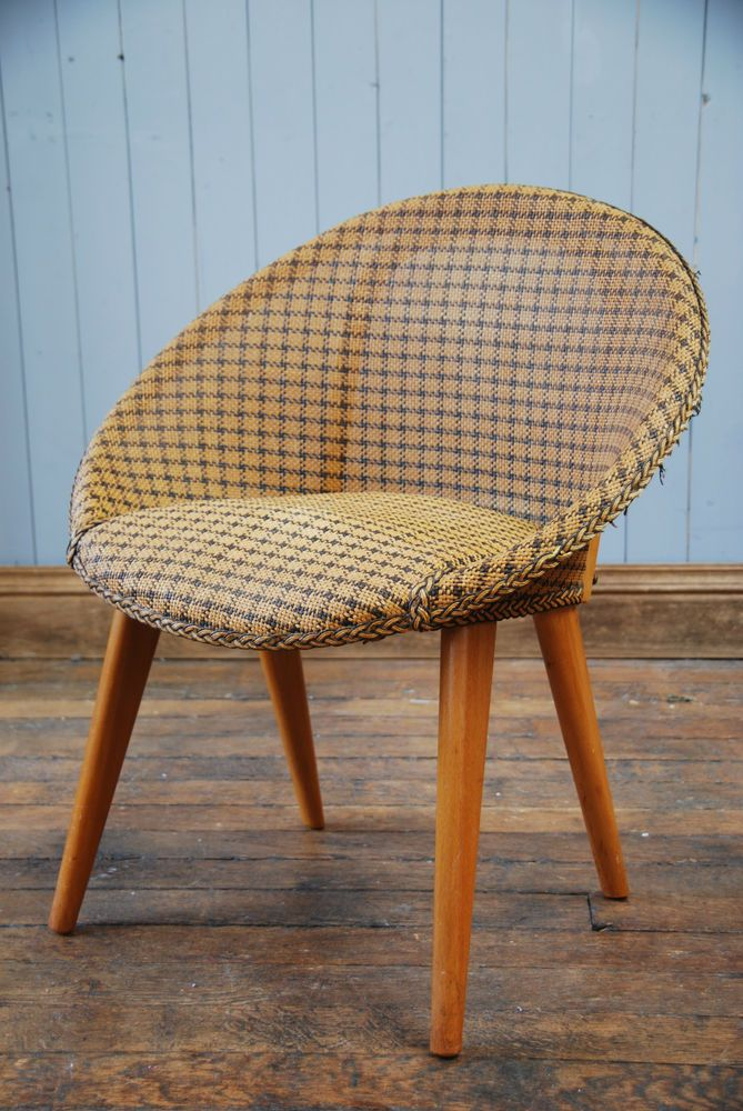 Vintage Mid Century Wicker Chair Atomic Egg Armchair CAN DELIVER