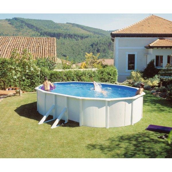 Kit piscine hors sol acier 6,10m X 3,75m X 1,20m avec renforts