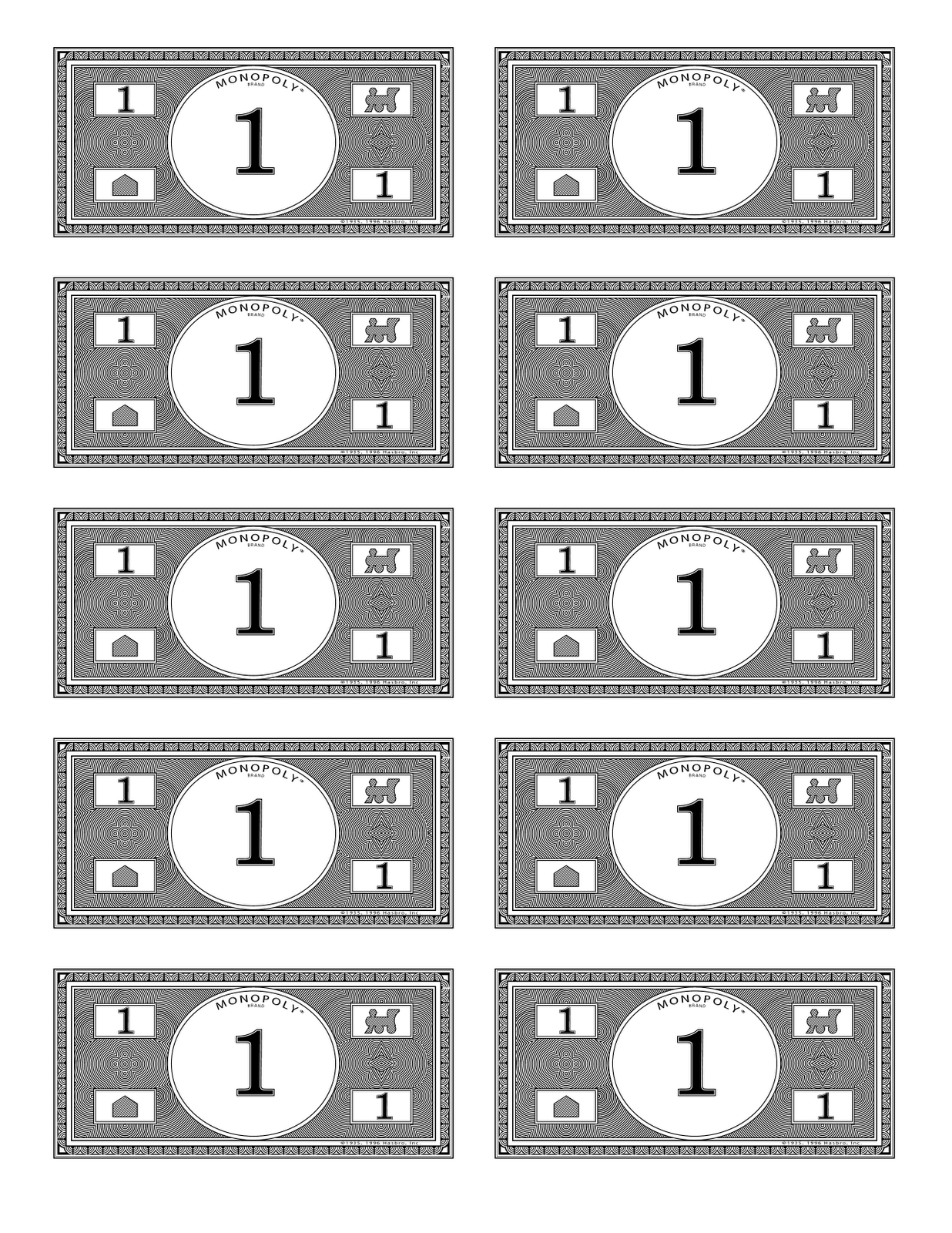 It is a graphic of Declarative Monopoly Money Printable