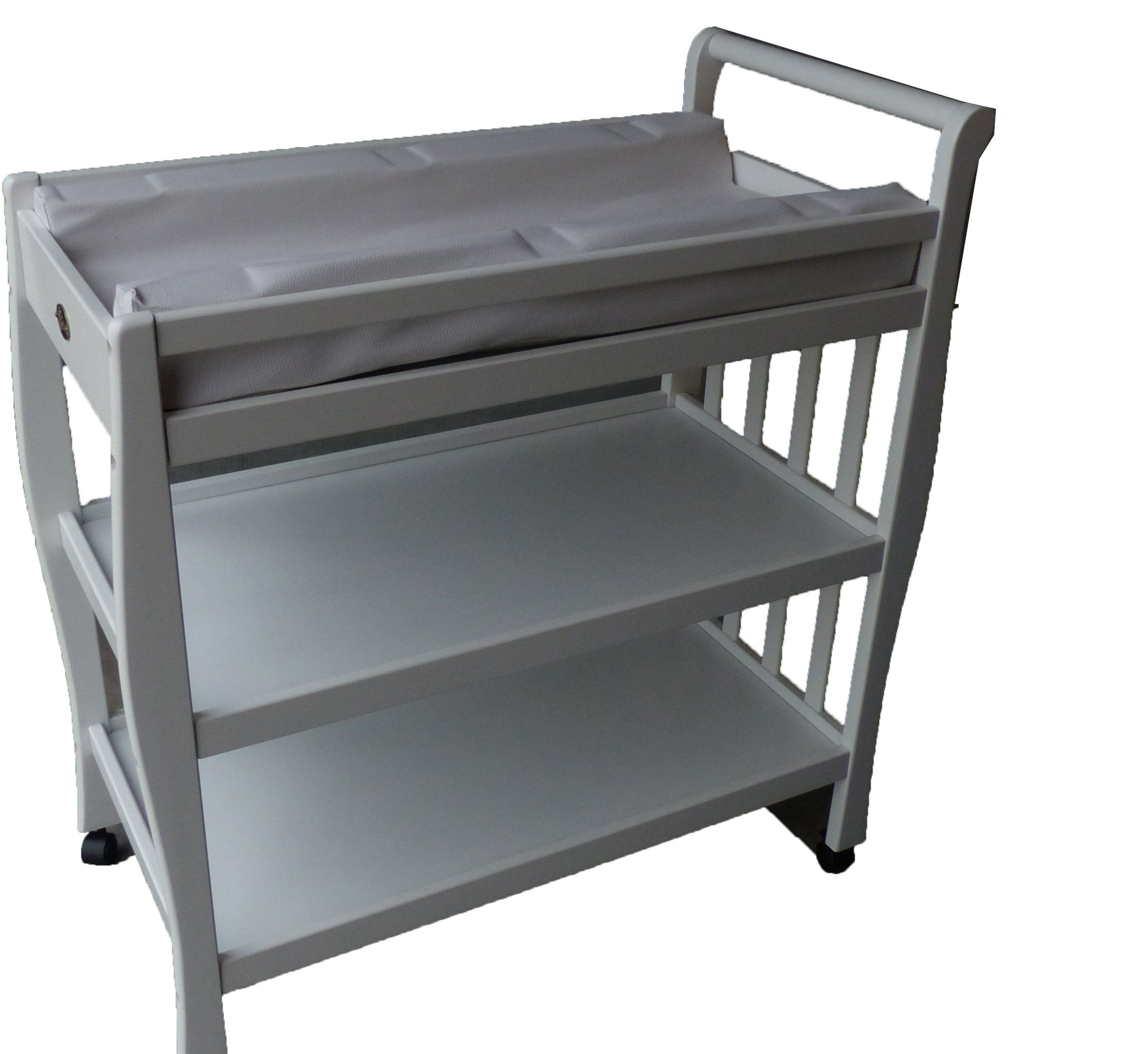 Amazon.com : Solid Pine Baby Diaper Change Table With 2 Shelves (White)