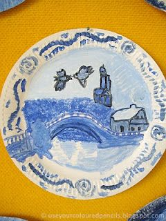 Willow Pattern Paper Plates Asian Art Projects Willow Pattern