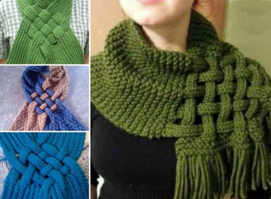 Celtic Knot Loop Scarf Pattern For Knitters Crafts Pinterest