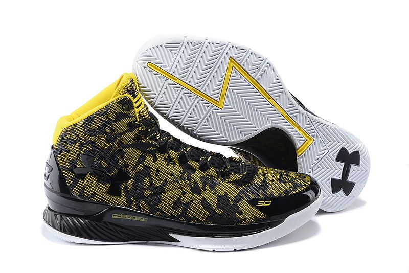 62e7b78c35541 Mens Under Armour Stephen Curry One Away Gold and Black Basketball Shoes -  Bay Area Clutch Sports