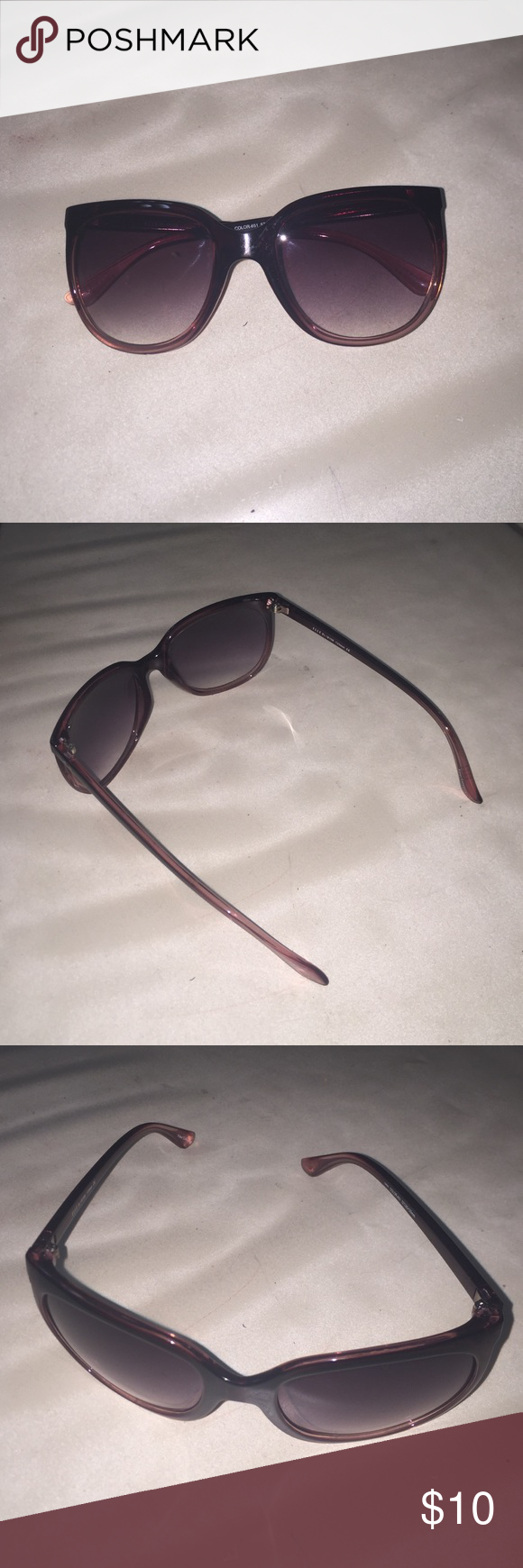 Elle sunglasses These have a hint of purple goes from dark to lighter. So cute Elle Accessories Sunglasses