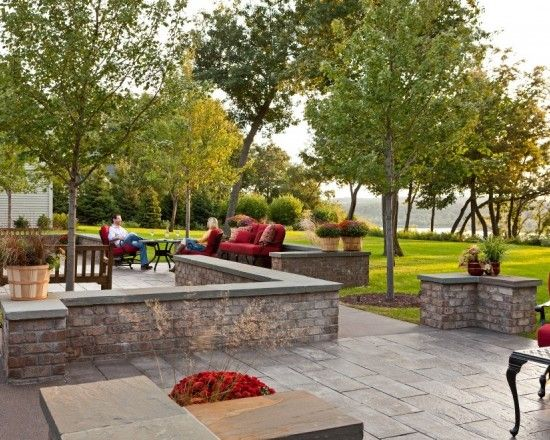 Love the use of the large floor block and also the retaining walls to define areas.   Retaining Wall Block Design, Pictures, Remodel, Decor and Ideas - page 6