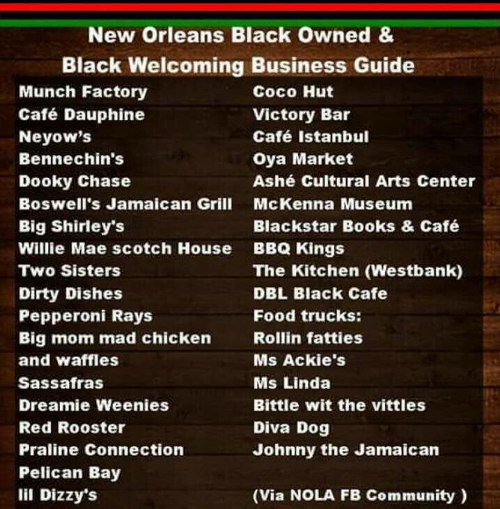 New Orleans Black Owned Restaurants New New Orleans In