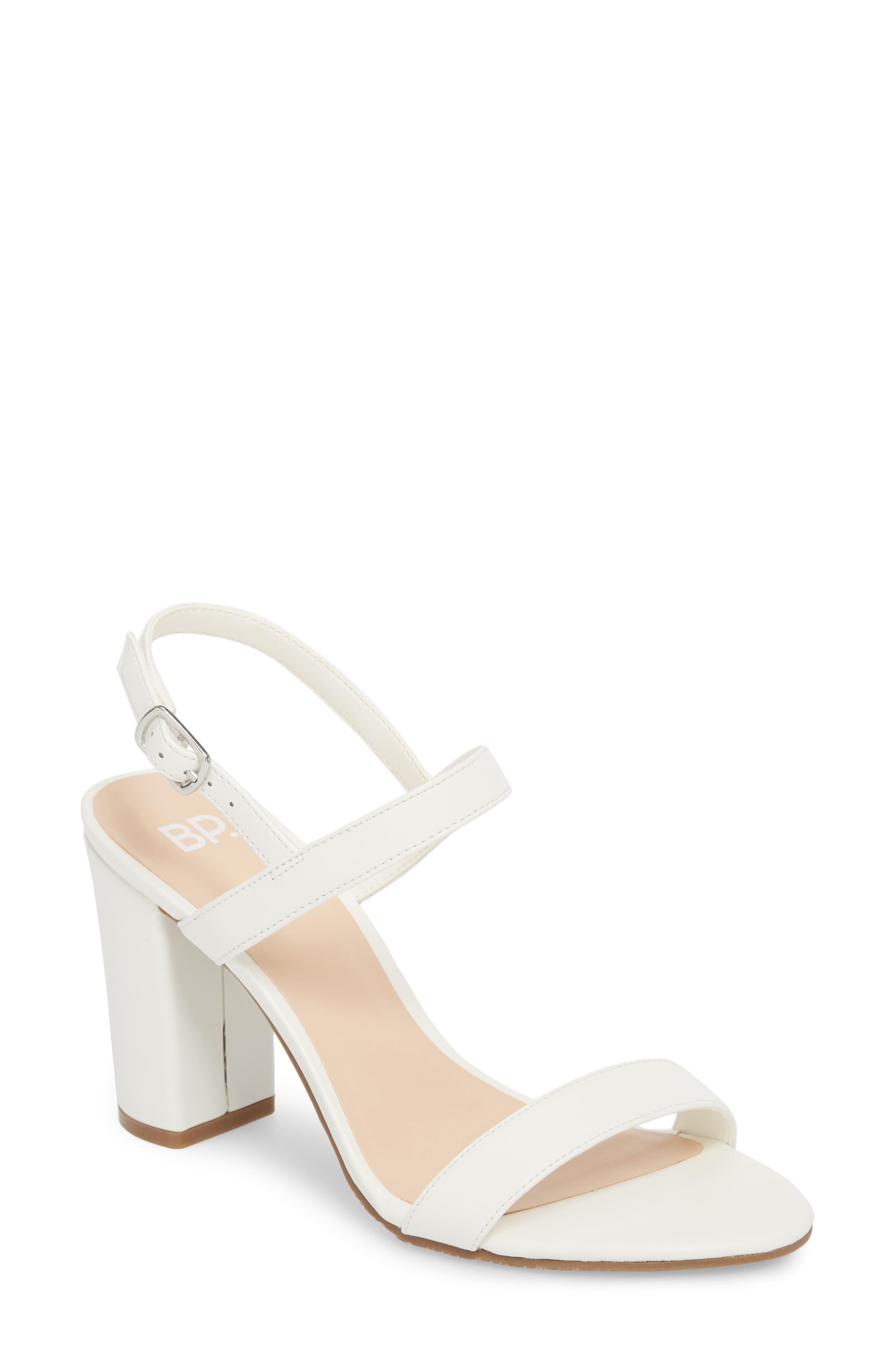 5bfd1a1d23e Women's Bp. Lula Block Heel Slingback Sandal, Size 10 M - Metallic ...