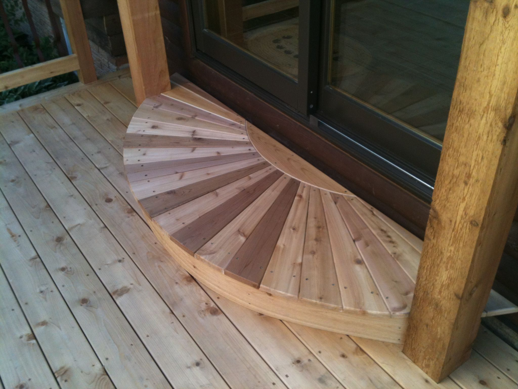 Cedar Radius Deck Step Deck Steps Hot Tub Deck Deck