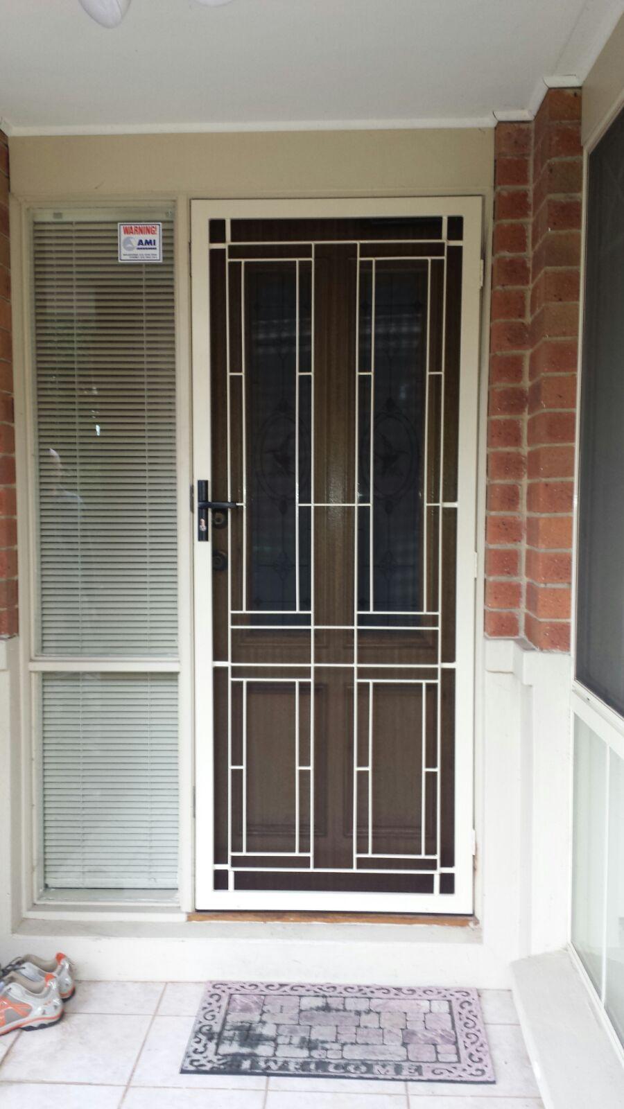 Steel Security Door With Stainless Steel Mesh Installed In Mt Waverley