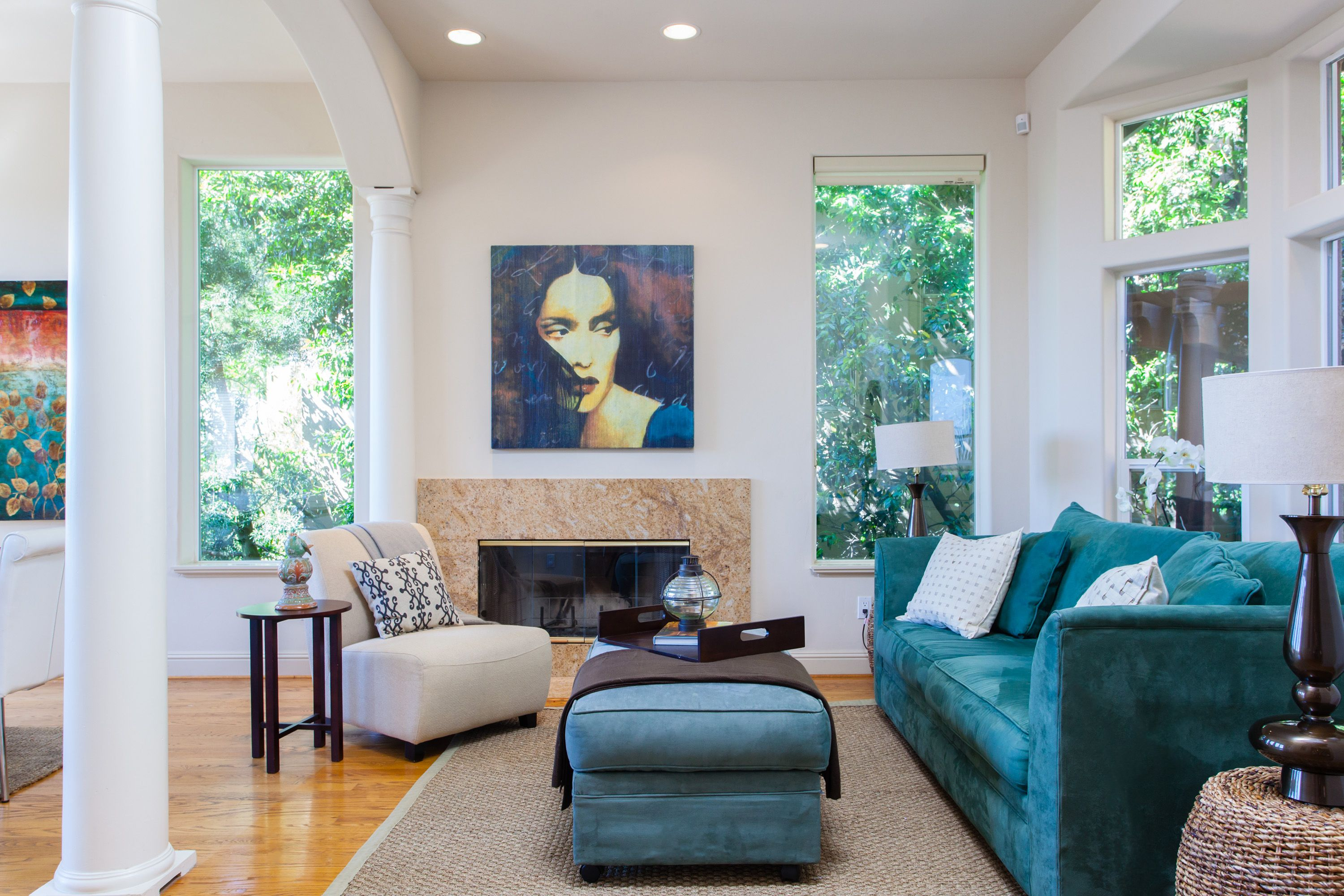 Best Blue Themed Living Room In The Berkeley Hills Home 400 x 300