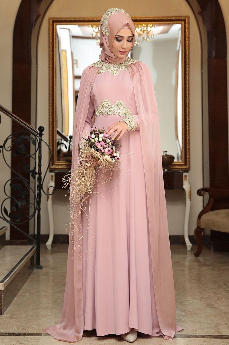 Shayan Asil Pudra Abiye | Muslim Brides | Pinterest | Moda islámica ...