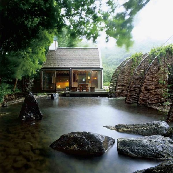 Small Vacation House With Private Steam Sauna And Pool Design Wingardhs Mill House In Swedish Architecture Pond Design Sauna House