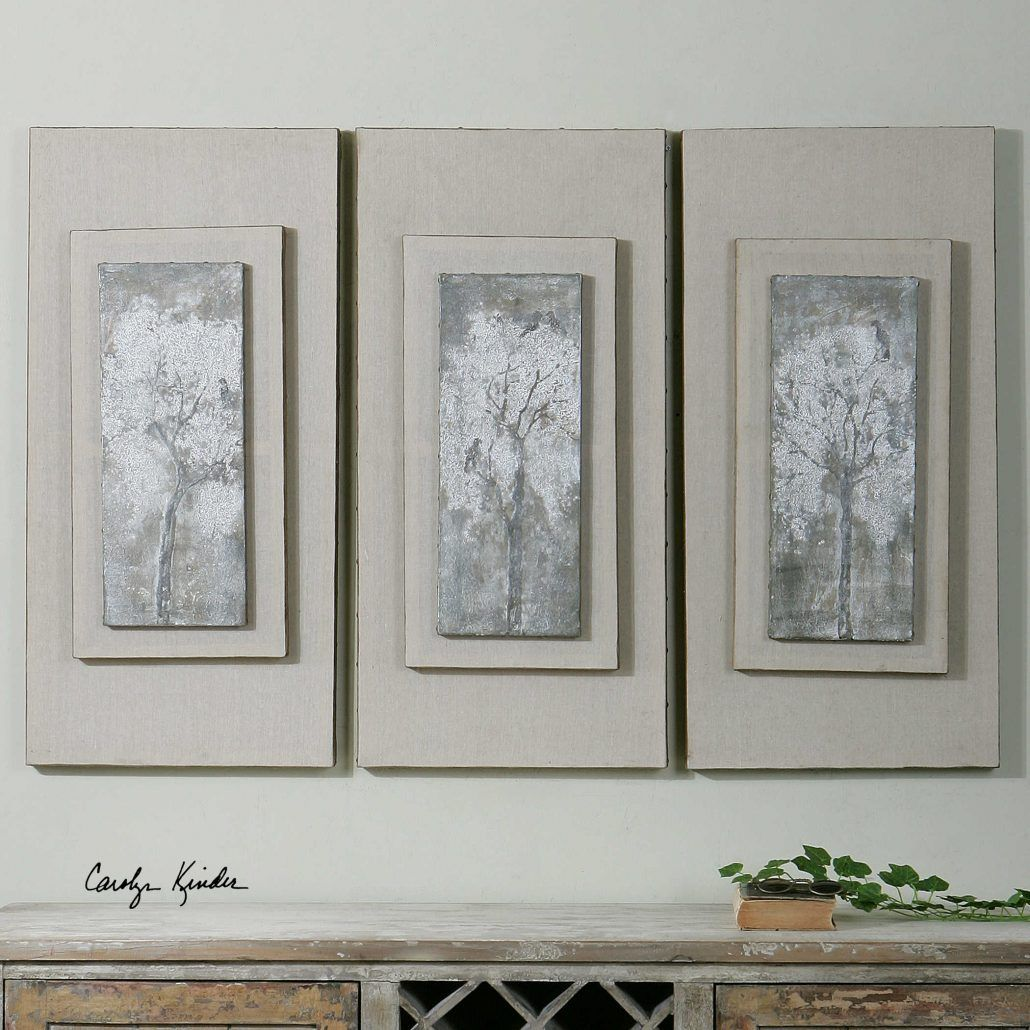 Triptych Trees Wall Art | Carolyn Kinder Wall Art | Pinterest | Tree ...