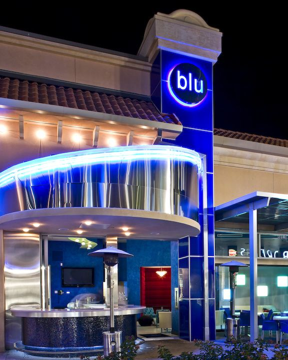 Front Entrance View Of Blu Sushi At The Gulf Coast Town Center