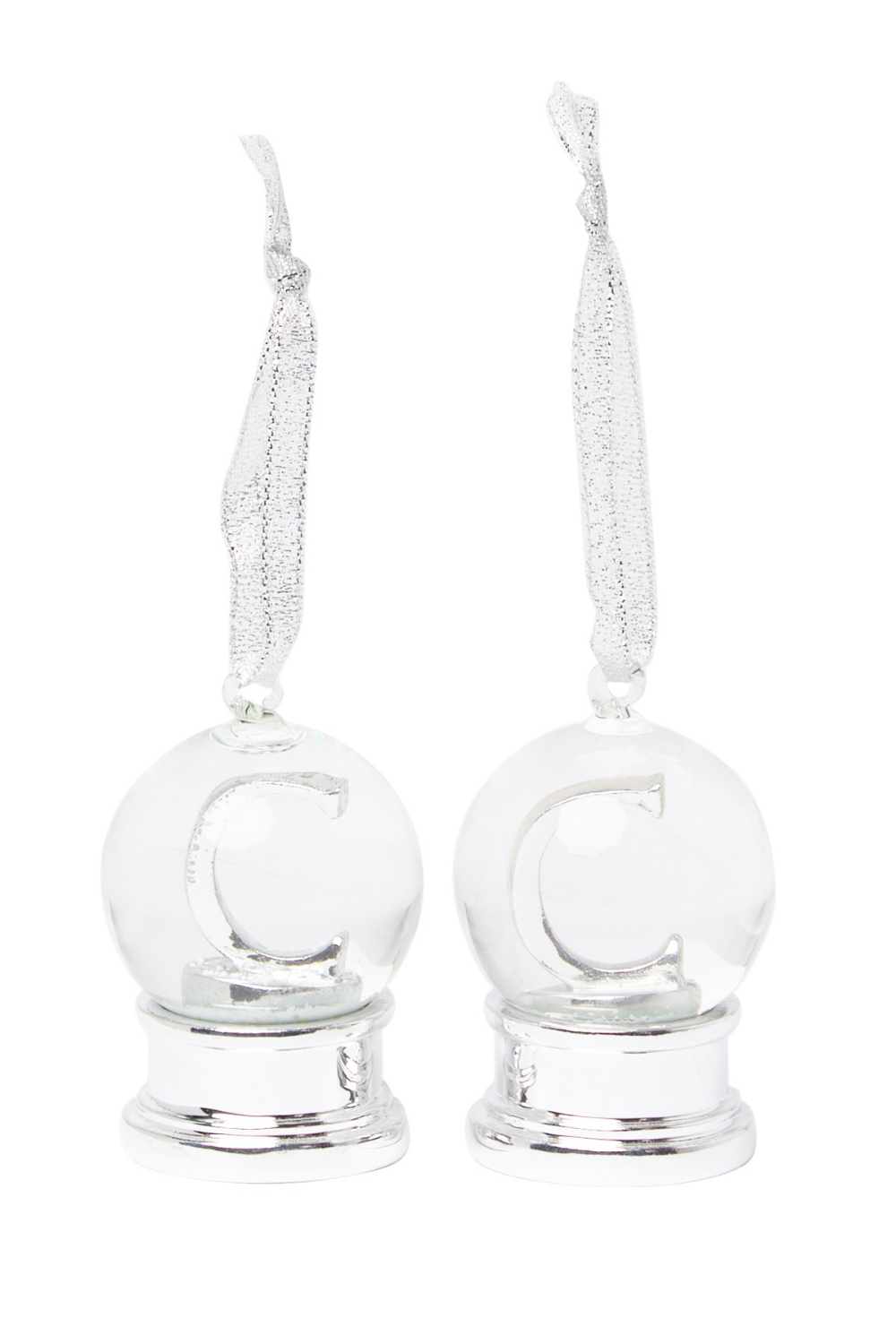 Nordstrom Rack | Silver Monogram Snow Globe Ornament - Set of 2 - Multiple Letters Available | Nordstrom Rack #nordstromrack