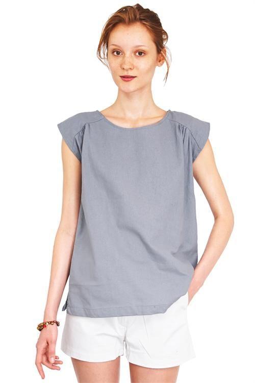 Faun top light grey #fashion #apparel