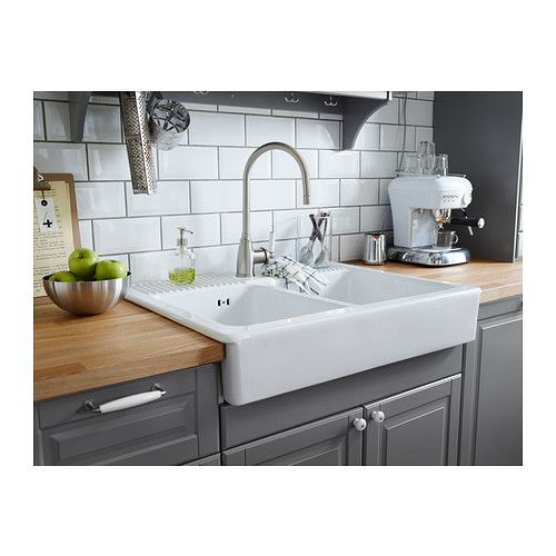 domsj double bowl sink ikea kitchen pinterest