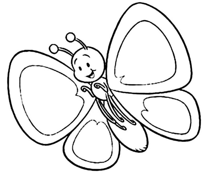 Spring Coloring Pages For Kids Coloring Town Butterfly Coloring Page Spring Coloring Pages Free Coloring Pages