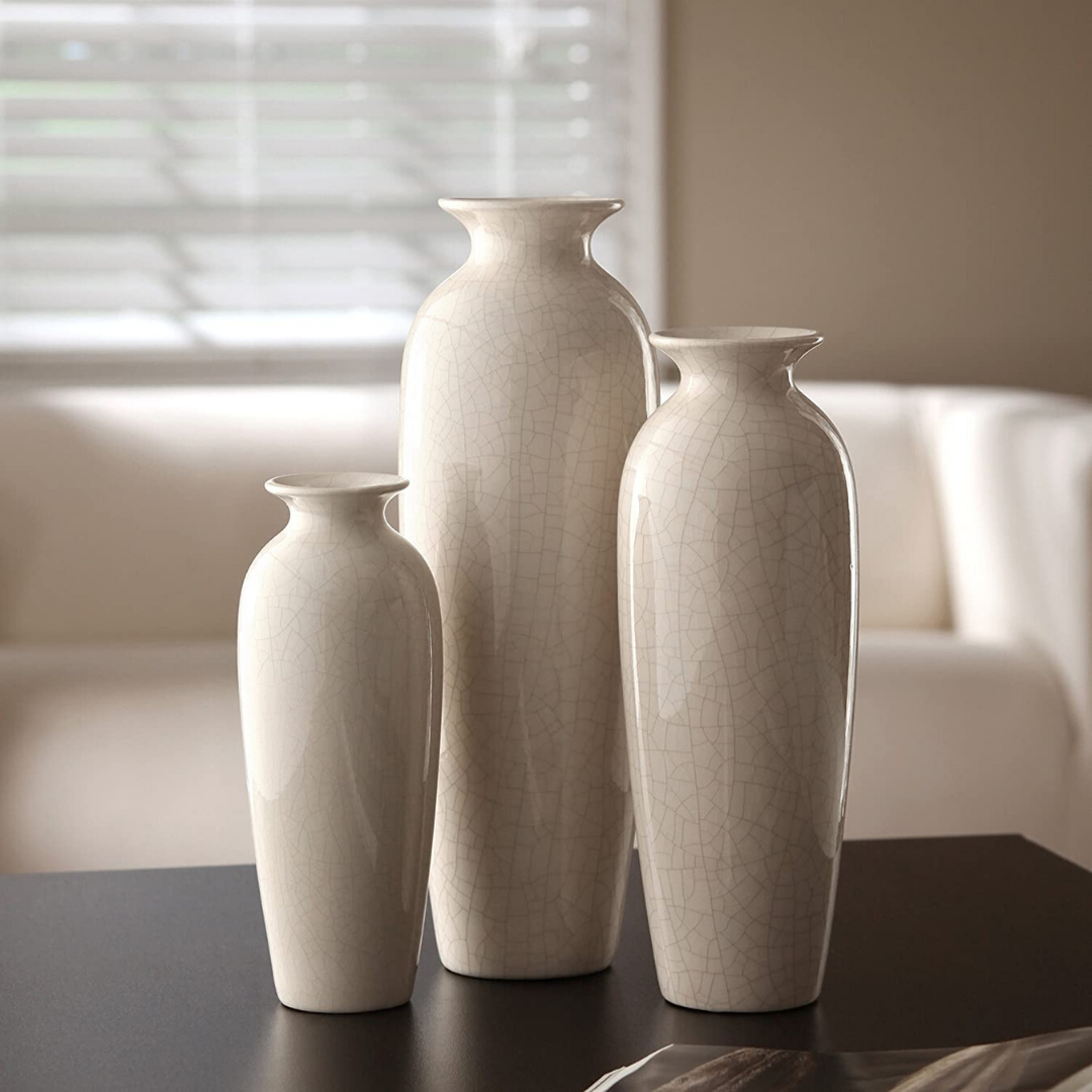Set of 3 beautiful designer vases. Made in three different colors for your choice. Ceramic are sold in a gift box. They can be used for home, office, parties, spa. A vase can complement various decors; they are limited to other vases. They can accent your home or office for the right decor.  📦 FREE fast delivery on all usa  #homedesign #homedecoration #homeideas #homedecor  #vases #vase #flowervases #ceramicvases  #vintagevases