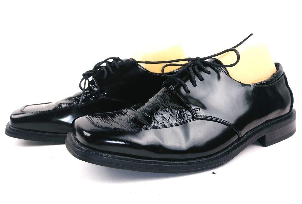d81357dec978a Dexter Comfort Mens Dress Shoes Oxfords size 13 Black Leather Formal  Dexter   Oxfords  Formal