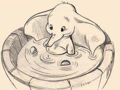 Dumbo Joli Dessin Crayon De Papier Disney Kunst Disney